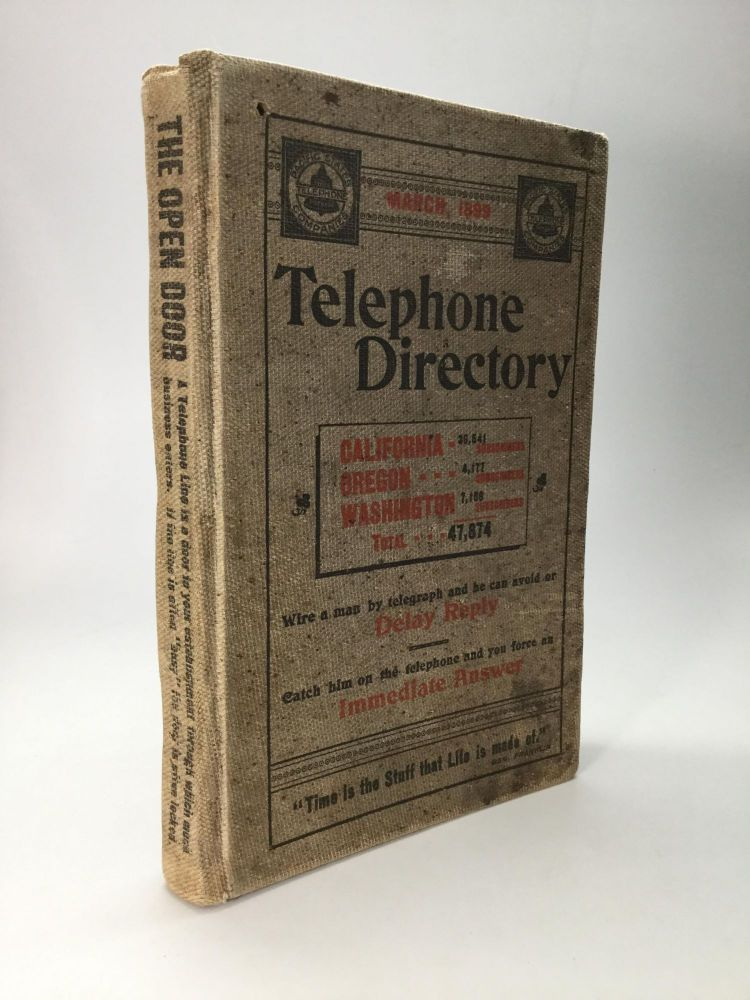 LIST OF SUBSCRIBERS OF THE PACIFIC STATES TELEPHONE COMPANIES: March, 1899
