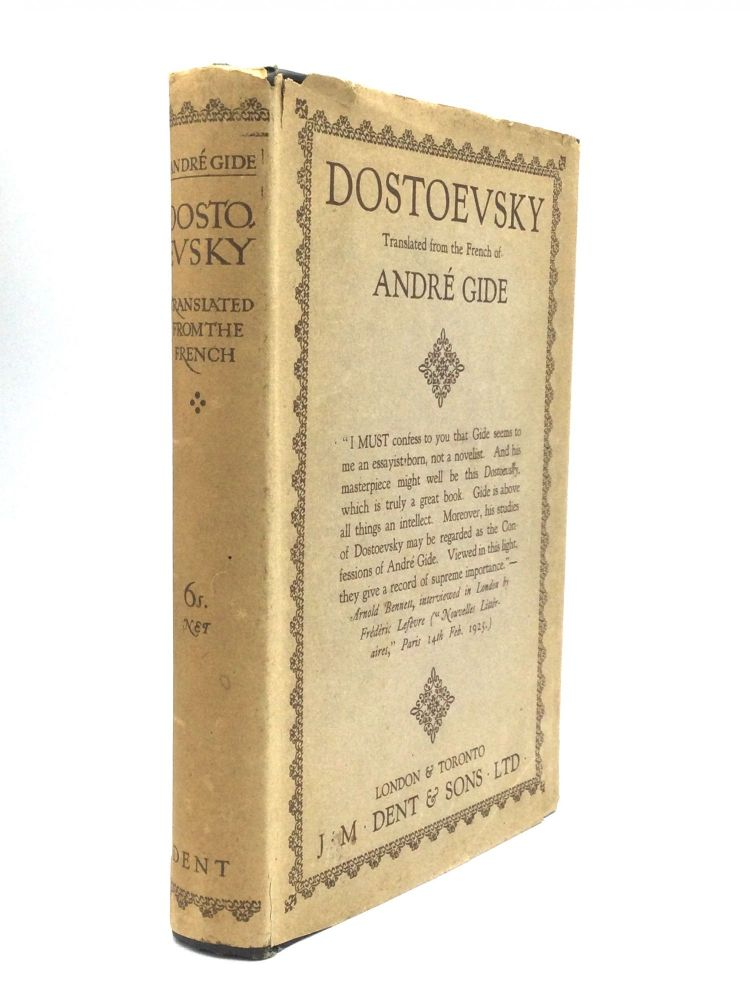 DOSTOEVSKY: Translated from the French, with an Introduction by Arnold Bennett. André Gide.
