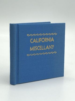 CALIFORNIA MISCELLANY, Volume I. Eileen Cummings