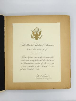 BIRTH TO DEATH SCRAPBOOK OF AN AMERICAN COAST GUARDSMAN KILLED IN ACTION AT GUADALCANAL