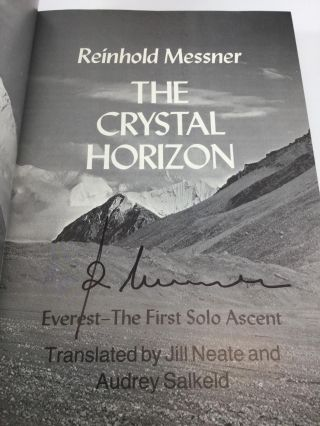 THE CRYSTAL HORIZON: Everest - The First Solo Ascent