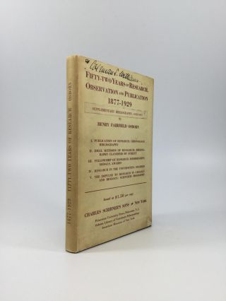 FIFTY-TWO YEARS OF RESEARCH, OBSERVATION AND PUBLICATION, 1877-1929: A Life Adventure in Breadth...