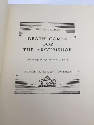 DEATH COMES FOR THE ARCHBISHOP, with drawings and designs by Harold Von Schmidt