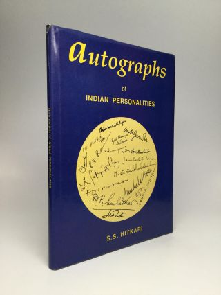AUTOGRAPHS OF INDIAN PERSONALITIES. S. S. Hitkari