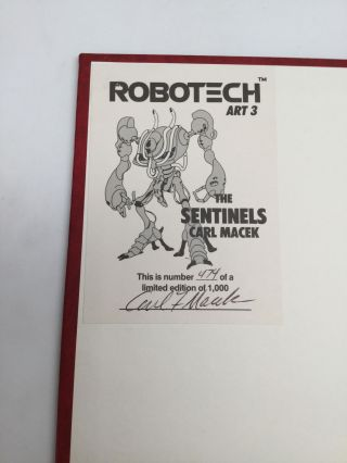 ROBOTECH ART 3: The Sentinels