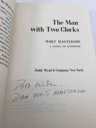 THE MAN WITH TWO CLOCKS: A Novel of Suspense