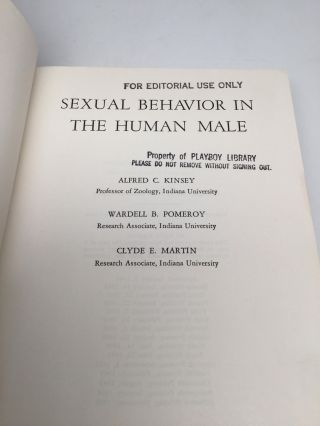 SEXUAL BEHAVIOR IN THE HUMAN MALE [and] SEXUAL BEHAVIOR IN THE HUMAN FEMALE