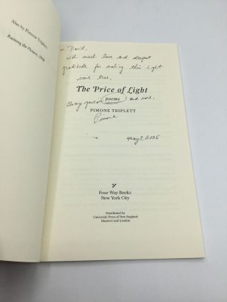 THE PRICE OF LIGHT: Poems