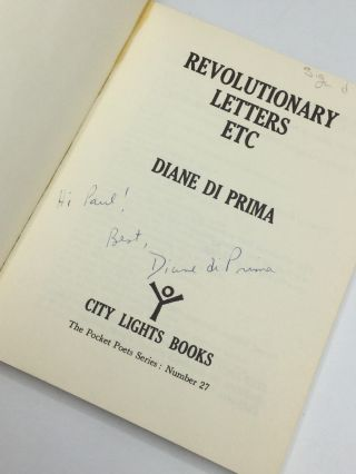 REVOLUTIONARY LETTERS ETC