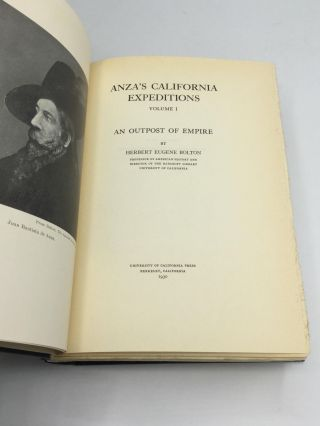 ANZA'S CALIFORNIA EXPEDITIONS