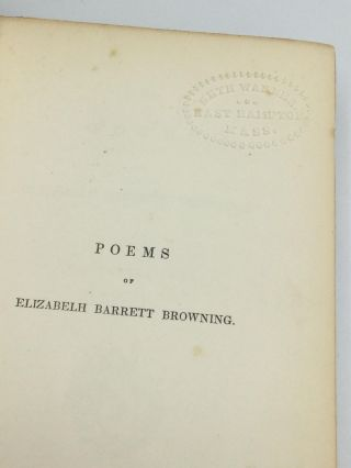 THE POEMS OF ELIZABETH BARRETT BROWNING