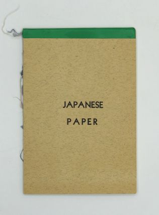 A small Japanese paper sample book issued by F.M. Nonaka & Co. in San Francisco, circa 1955....