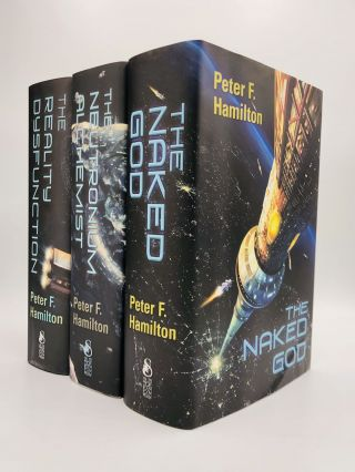 The Night's Dawn Trilogy: THE REALITY DYSFUNCTION, THE NEUTRONIUM ALCHEMIST, THE NAKED GOD. Peter...