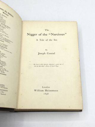 """THE NIGGER OF THE """"NARCISSUS"""": A Tale of the Sea"""