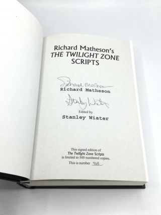 THE TWILIGHT ZONE SCRIPTS: Edited by Stanley Wiater