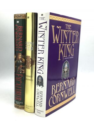 The Warlord Chronicles: THE WINTER KING, ENEMY OF GOD, EXCALIBUR. Bernard Cornwell