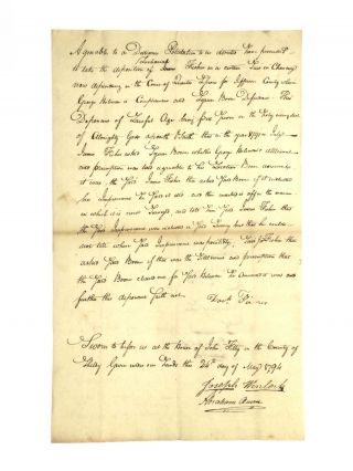 DOCUMENTS ASSOCIATED WITH THE FAMILY OF FRONTIERSMAN DANIEL BOONE
