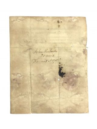 KENTUCKY LAND WARRANT (1807)