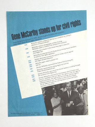 GRASSROOTS MCCARTHY FOR PRESIDENT MATERIALS