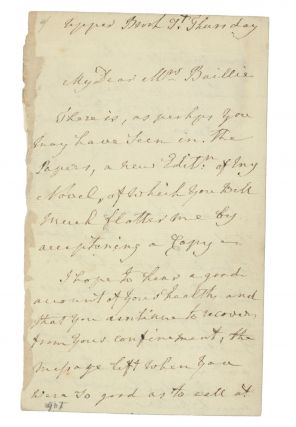 "AUTOGRAPH LETTER SIGNED BY THE ""FEMALE GENIUS"" Anne Seymour Damer"