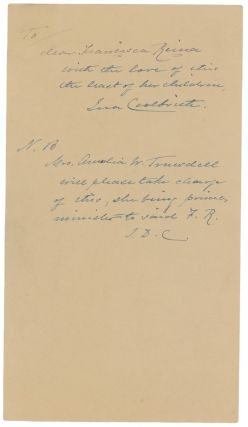 AUTOGRAPH MANUSCRIPT SIGNED BY THE FIRST CALIFORNIA POET LAUREATE