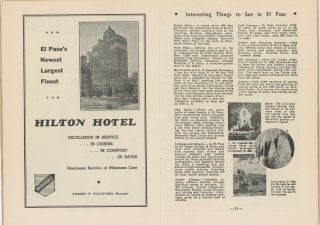 THE SOUTHWEST HOTEL GREETERS GUIDE, JUNE – 1941